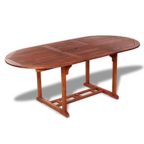 vidaXL Holz Esstisch Gartentisch Gartenmöbel Holztisch Akazie ausziehbar 150-200