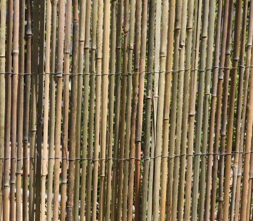 HaGa-Weltde 5m x 15m Bambusmatte Bambus-Sichtschutzmatte Zaun- Sichtschutz Matte geschnitten