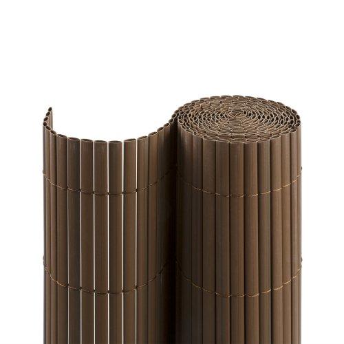 Jarolift PVC SichtschutzmatteSichtschutzzaun für Garten Balkon und Terrasse 80 x 300 cm braun