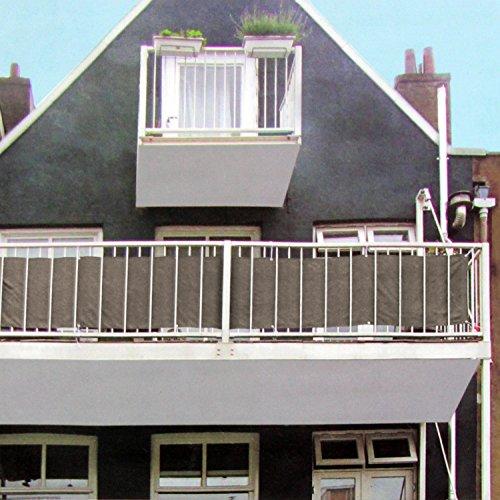 Multistore 2002 Lagerräumung Sichtschutz 445x76cm für Balkon Zaun Geländer Polyester in BraunBeige Blickschutz Windschutz Sonnenschutz Trennwand