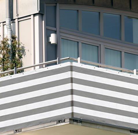 5x09m Balkon Sichtschutz Windschutz atmungsaktiv Modell ELECSA 361