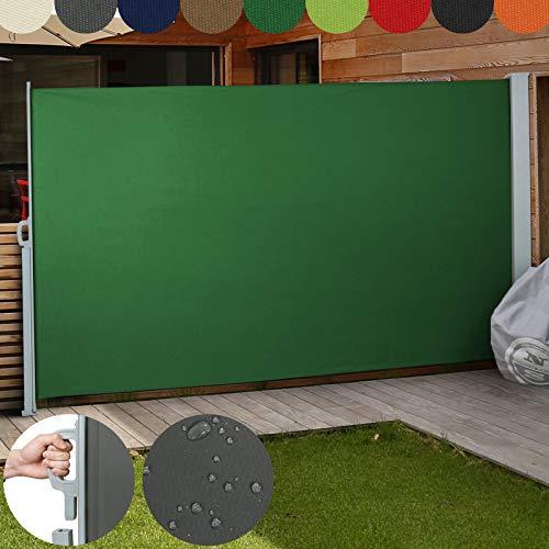 Jago Seitenmarkise FarbauswahlGroßauswahl 160x300cm 180x300cm 200x300cm für Balkon Terrasse Garten Sonnenschutz Sichtschutz Windschutz