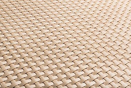 Polyrattan Balkonverkleidung Sichtschutz Balkonsichtschutz anthrazit braun weiß schwarz Kupfer grün Meterware Balkonbespannung 1749€  Quadratmeter H 90cm RD18 -hell beige