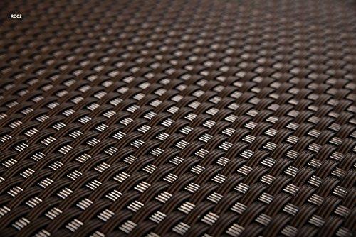 Sellon24 Polyrattan Balkonverkleidung Sichtschutz Balkonsichtschutz anthrazit braun weiß schwarz Kupfer grün Meterware Balkonbespannung 1749€  Quadratmeter H 100cm RD02 - dunkel braun
