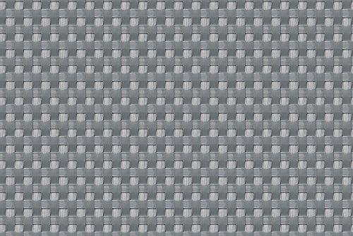 Sellon24 Polyrattan Balkonverkleidung Sichtschutz Balkonsichtschutz anthrazit braun weiß schwarz Kupfer grün Meterware Balkonbespannung 1749€  Quadratmeter H 100cm RD17 - Silber Grey