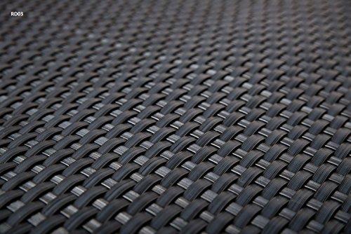 Sellon24 Polyrattan Balkonverkleidung Sichtschutz Balkonsichtschutz anthrazit braun weiß schwarz Kupfer grün Meterware Balkonbespannung 1749€  Quadratmeter H 90cm RD03 - anthrazit