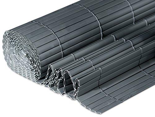 Windhager Sichtschutzmatte Kunststoff in Bambusoptik Anthrazit 3 x 09 m 06780