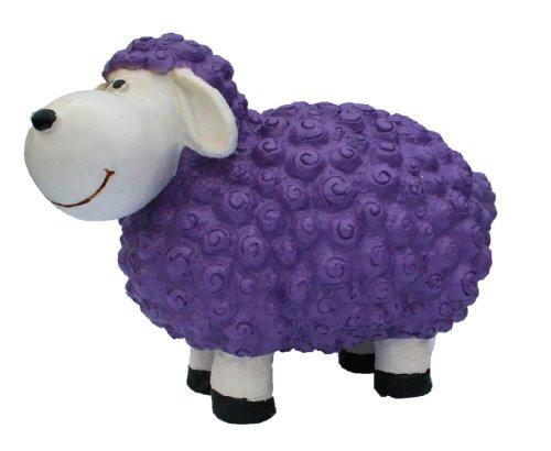 Dekofigur Schaf Helma lila bunte Dekoration nicht nur für den Garten