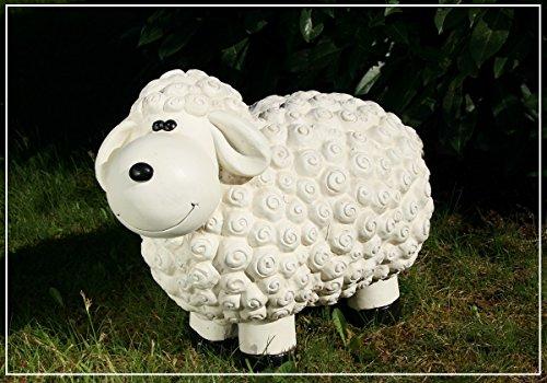 Dekofigur weisses Schaf Regina Schafe Tier Figuren für Haus und Garten