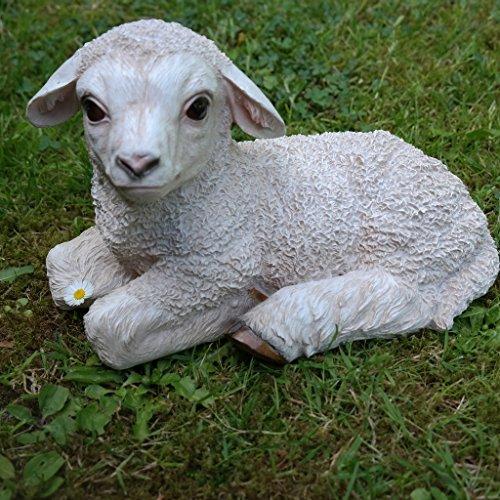 Schaf Lamm Lämmchen Dekofigur Tierfigur Türdeko Garten Terrasse