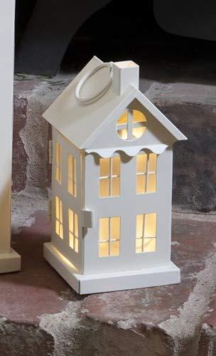Garden Mile Metall Haus Stil Außen Traditioneller Led Laterne Kerze Stahl Glas Wandbehang Terrassen Tisch oder Fenster Tafelaufsatz Innen Verwendung Batterie Betrieben