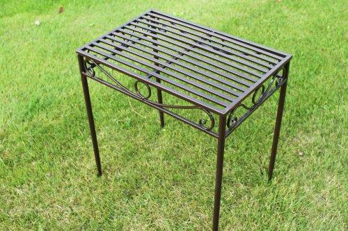 GardenMarketPlace Beistelltisch oder Untergestell aus Metall im Versailles-Stil in antiker Bronzeausführung mittlere Größe - Ideal für Haus und Garten