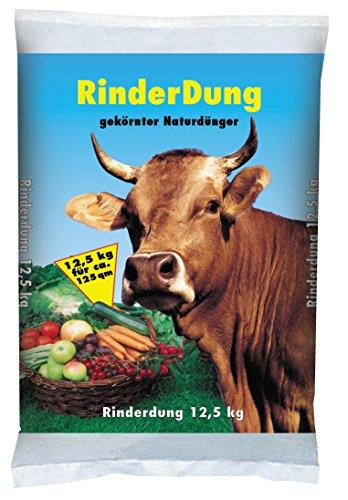 PALIGO Rinderdung NPK Dünger Kuh Mist Dung Natur Bio Obst Gemüse Rasen Beet Garten 125kg x 2 Sack 25kg  1 Karton Galamio