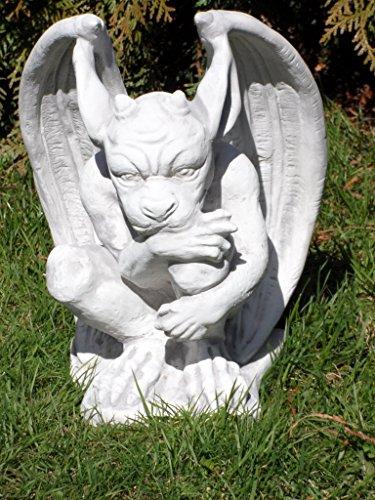 Arbrikadrex Gargoyle Torwächter Massive Steinfigur Gnom Drache Kobold für innen und außen ideal auch als Geschenk