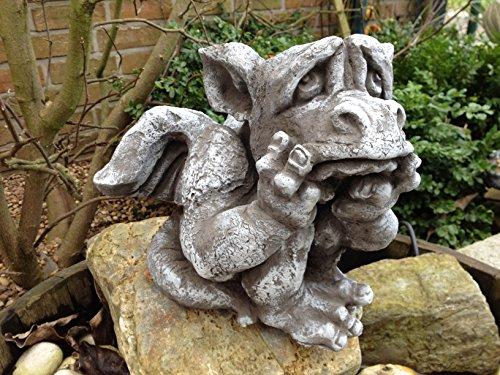 Steinfigur Drache Gartenfigur Frostfeste Steinfiguren