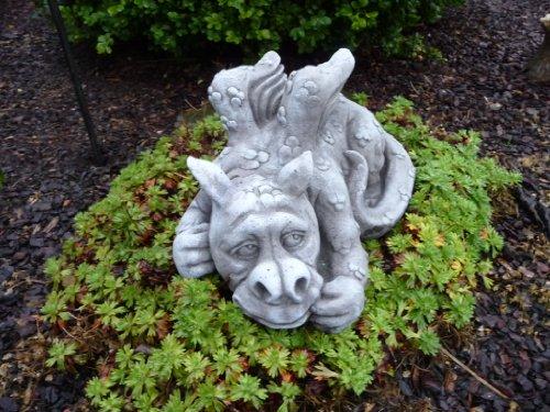 Steinfiguren Drache Fantasiefigur Garten Deko Steinguss Gartenfiguren Drachen