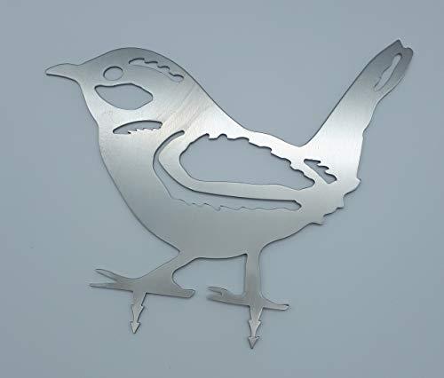 ARTTEC Design VogelZaunkönig Edelstahl klein