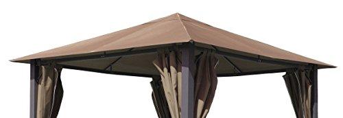 Ersatzdach zu Pavillon Paris 3x3m Taupe