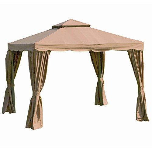 Siena Garden 587959 Ersatzdach zu Alu-Pavillon Dubai  3x3m natur