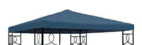 Spetebo Pavillon Ersatzdach 3x3 Meter - blau - wasserdicht - Pavillondach