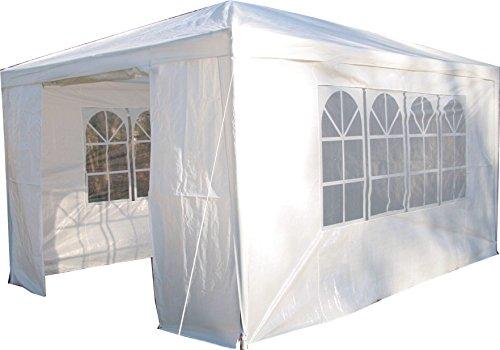 Airwave Pavillon 3 x 4 m weiß Inklusive 1 x einzigartig gestalteter Windstangen für besondere Stabilität