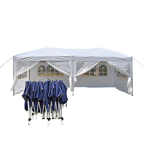 Faltpavillon 3x6 wasserdicht Stabil aus 270g m² Polyester mit PVC-Beschichtung von Serface Pavillon Zelt Partyzelt Festzelt Weiß