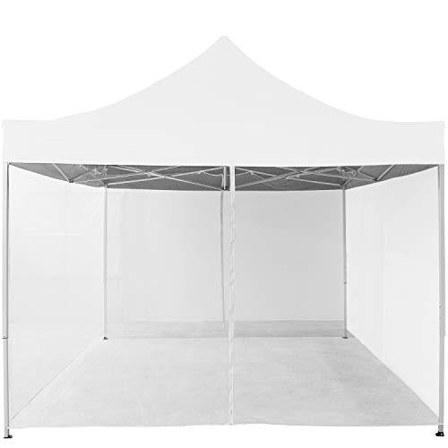Moskitonetz für 3x3 Pavillon Farbwahl schwarz oder weiß 2X Reißverschluss mit Klettbändern zur Befestigung