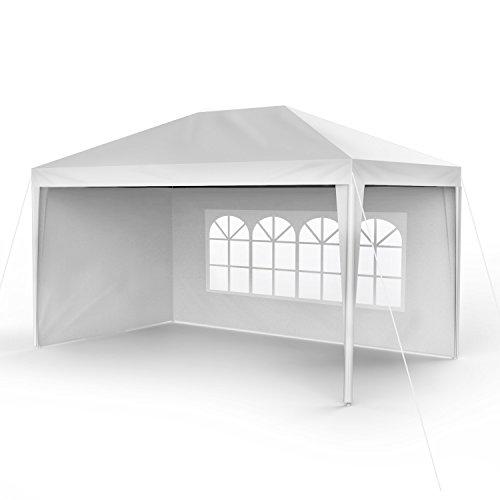 Sekey 3x4m Garten Wasserdicht PavillonGartenpavillonVerstellbareGartenzelt Beine für GartenPartyHochzeitPicknick UV30Seitenwänden,Weiß