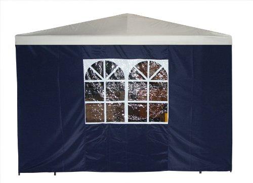 DEGAMO Seitenteil für Pavillon 3x3 Meter mit Fenster blau