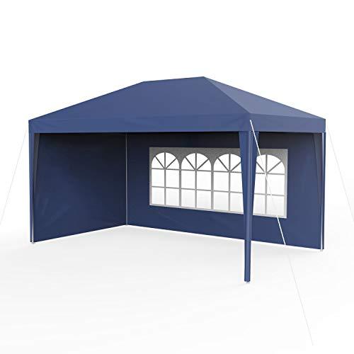 Sekey 3x4m Garten Wasserdicht PavillonGartenpavillonVerstellbareGartenzelt Beine für GartenPartyHochzeitPicknick UV30Seitenwänden,Blau