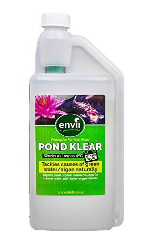 Envii Pond Klear – Teich Wasseraufbereiter bestehend aus Bakterien zur Beseitigung von grünem Wasser und Algen ungefährlich für Fische und Haustiere – 1 Liter