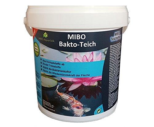 MIBO Bakto Teich 1kg Teichpflege Wasseraufbereiter Schlammabbau Filteraktivator 1kg ausreichend für 30000 Liter