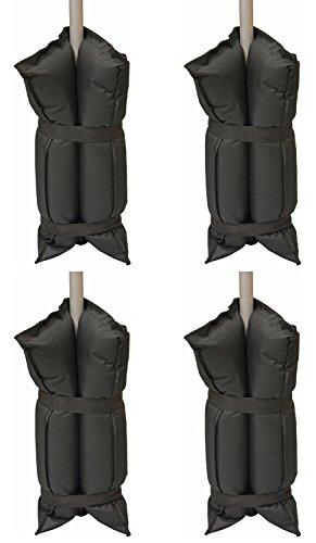 Andes - Sandsäcke für PavillonPartyzelt - Schwarz - 4 Stück