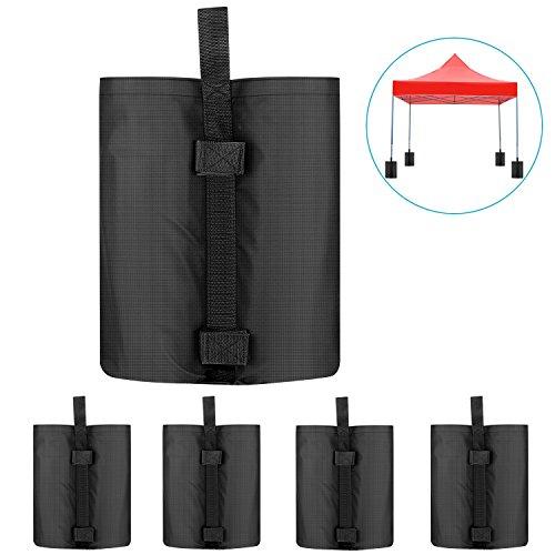 Neewer 4 Stück Gewichtstaschen Pavillonstandfüße für die Verankerung von einem Überdachungs Zelt Pavillon Gartenpavillon 38×34×52 cm schwarz leere Tasche