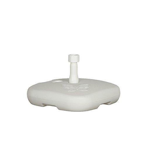 Enne Palstica 10000 Schirmständer Papillon 20 Liter für Schirmstöcke ø 18-32 mm Polyethylen weiß