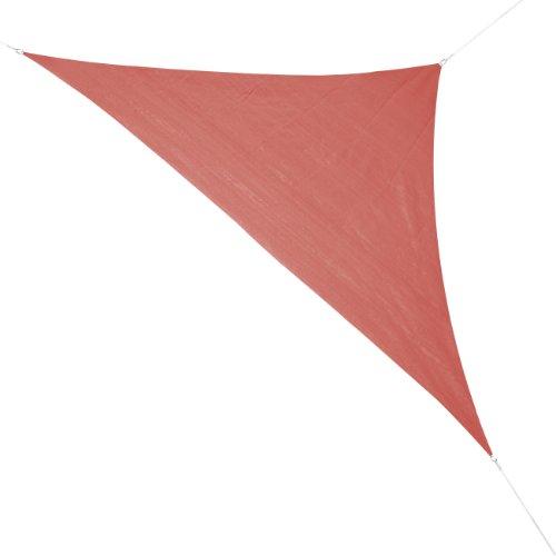 Corasol COR10RA36-RR Premium Sonnensegel 36 x 36 x 5 m 90 Grad Dreieck rostrot