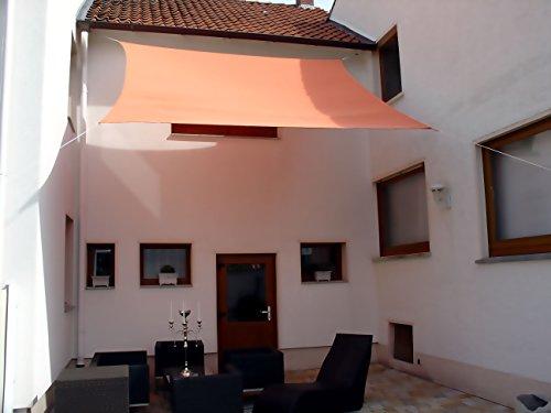 Dekowelten Luxus Sonnensegel Top Qualität dreiecken und Vierecken Wasserdicht Rot 4x4m viereck