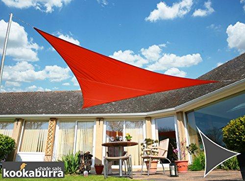 Kookaburra Wasserfest Sonnensegel 36m Dreieck Rot