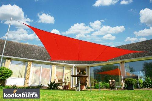 Kookaburra Wasserfest Sonnensegel 40m x 30m Rechteck Rot