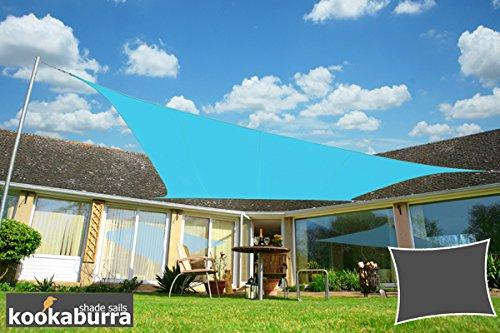 Kookaburra Wasserfest Sonnensegel 30m x 20m Rechteck Azurblau