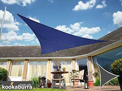 Kookaburra Sonnensegel Wasserabweisend 30m Dreieck Blau