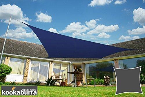 Kookaburra Sonnensegel Wasserabweisend 30m Quadrat Blau