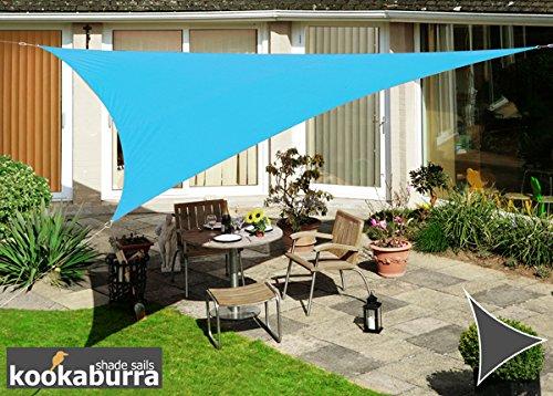 Kookaburra Wasserfest Sonnensegel 50m Dreieck Azurblau