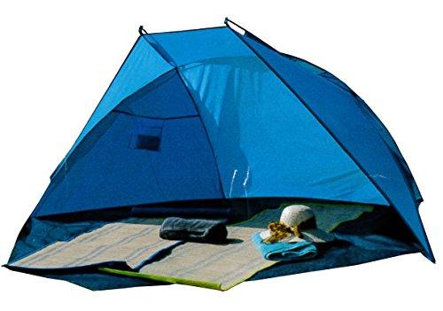 Strandmuschel Sonnenzelt Strand Sonnenschutz Windschutz Sonnensegel Blau