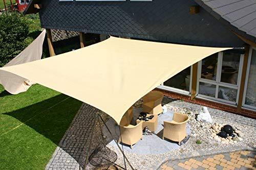 Eduplay Sonnensegel 6x4m Rechteck beige