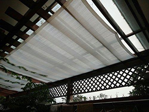 Frilivin Sonnensegel Rechteckig Sonnenschutz Garten UV Schutz Premium Schatten Tuch Markisen Weiß 1x15m