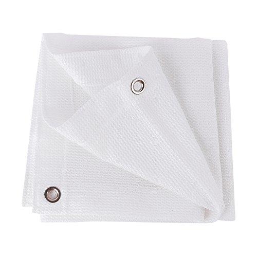 Frilivin Sonnensegel Rechteckig Sonnenschutz Garten UV Schutz Premium Schatten Tuch Markisen Weiß 1x1m