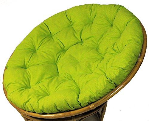 Rattani Polster für Papasansessel Auflage Ersatzpolster Papasan D 120 cm Stoff Loneta hell grün