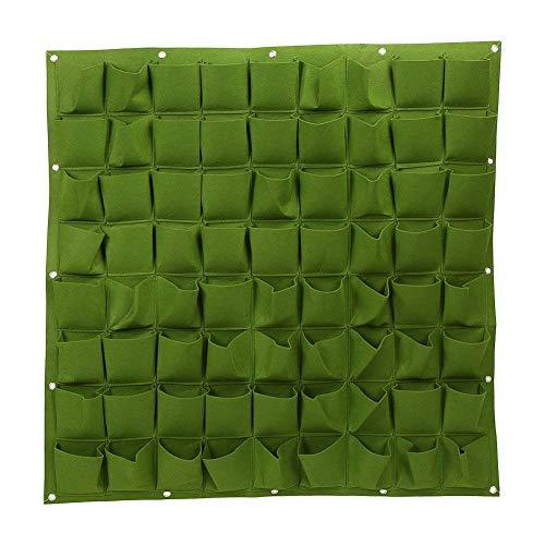 Senua Stoff Pocket Balkon Kräuter Vertical Garden Wand aufhängen Übertopf Grüne 7 Tasche