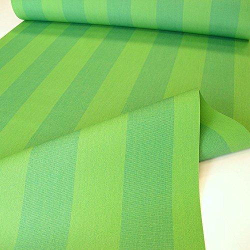 TOLKO Sonnenschutz Markisen-Stoffe als Meterware Zum Nähen mit UV-Schutz 50  Wasserdicht Extra Langlebig - Ohne Ausbleichen Grün-Gestreift